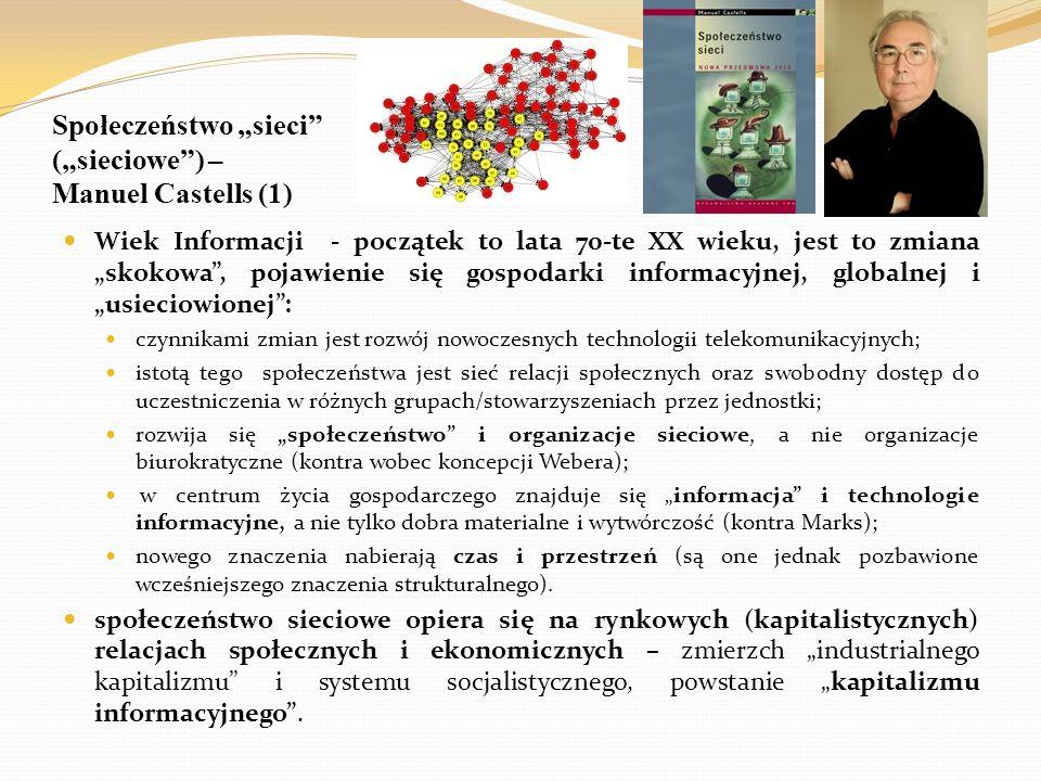 """Społeczeństwo """"sieci (""""sieciowe ) – Manuel Castells (1)"""