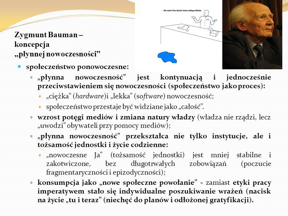 """Zygmunt Bauman – koncepcja """"płynnej nowoczesności"""