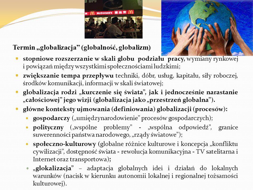 """Termin """"globalizacja (globalność, globalizm)"""