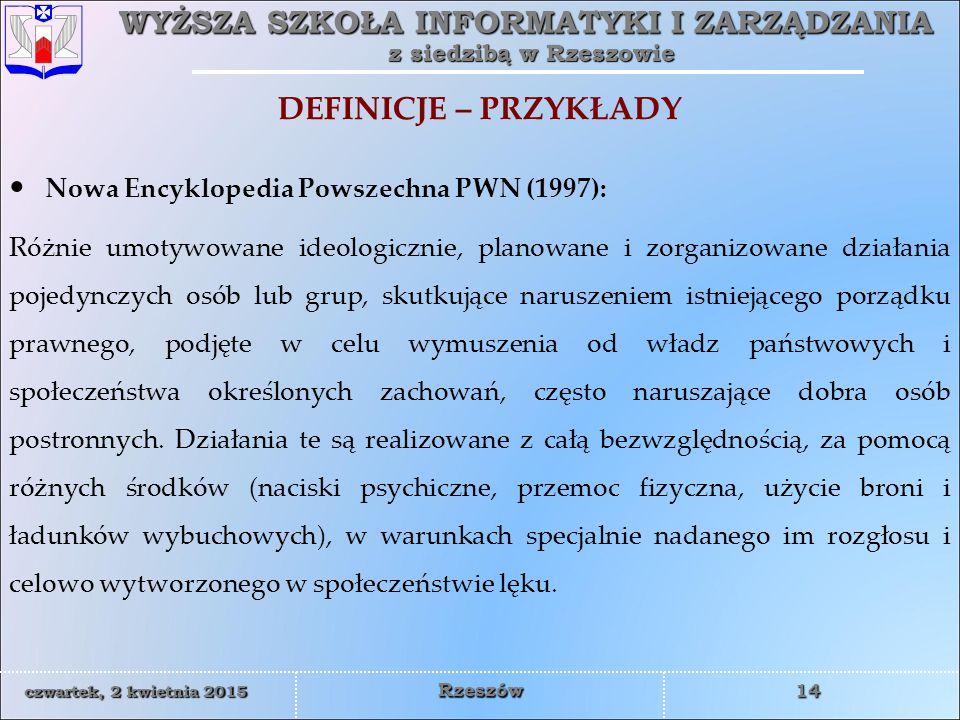 DEFINICJE – PRZYKŁADY Nowa Encyklopedia Powszechna PWN (1997):