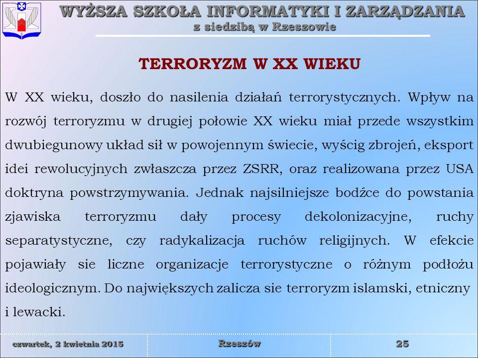 TERRORYZM W XX WIEKU