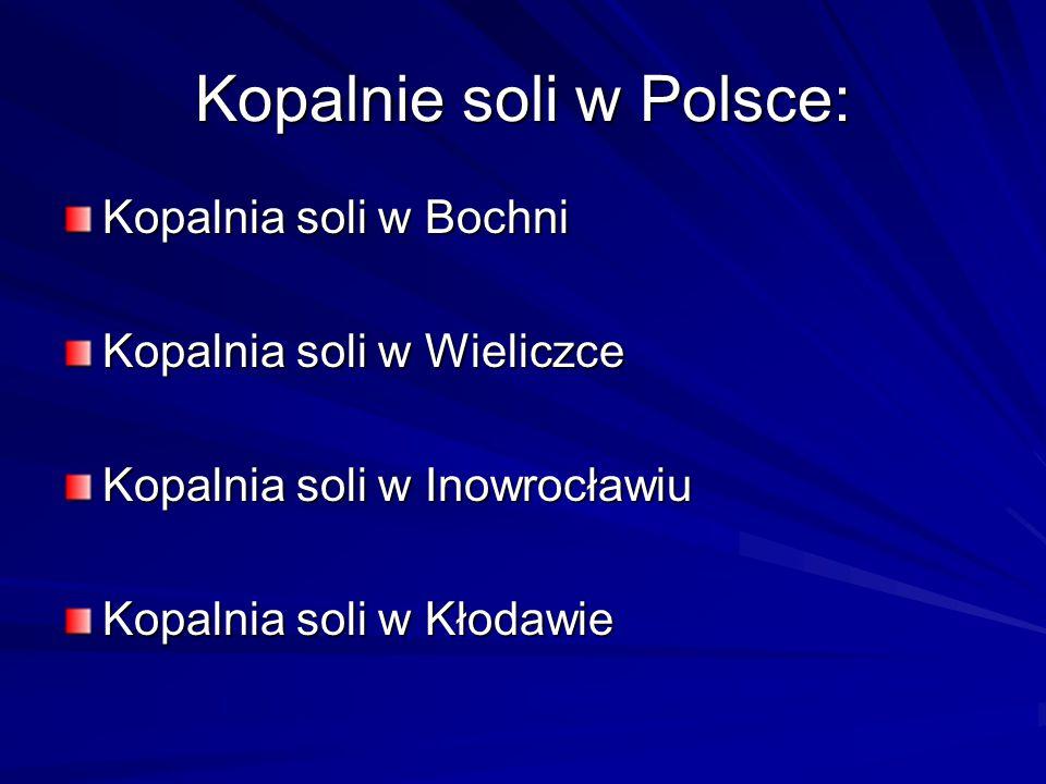 Kopalnie soli w Polsce: