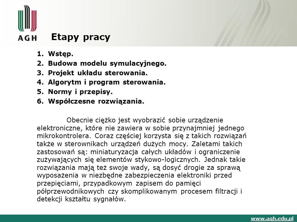Etapy pracy Wstęp. Budowa modelu symulacyjnego.