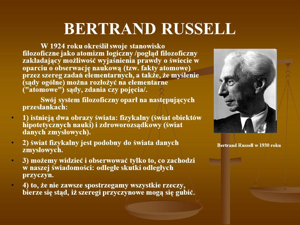 Bertrand Russell w 1930 roku