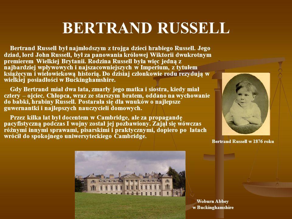 Bertrand Russell w 1876 roku