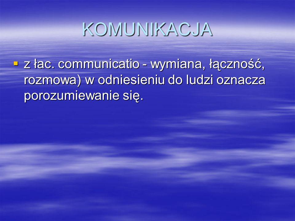 KOMUNIKACJA z łac.