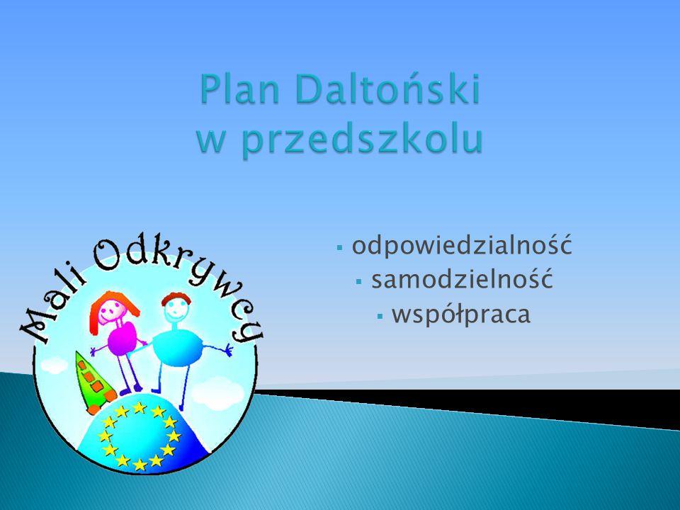 Plan Daltoński w przedszkolu