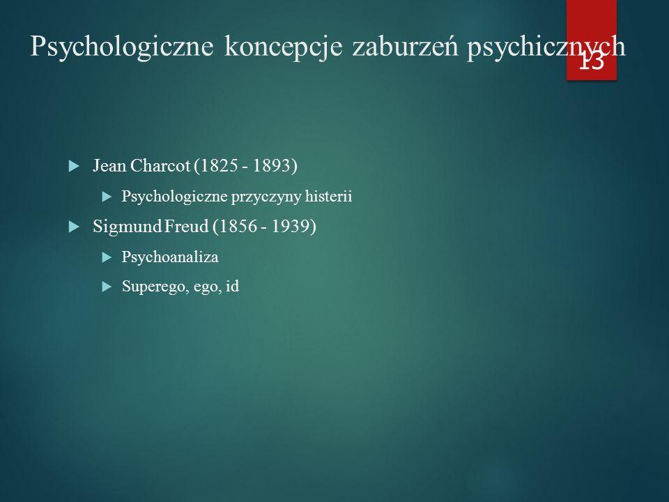 Psychologiczne koncepcje zaburzeń psychicznych