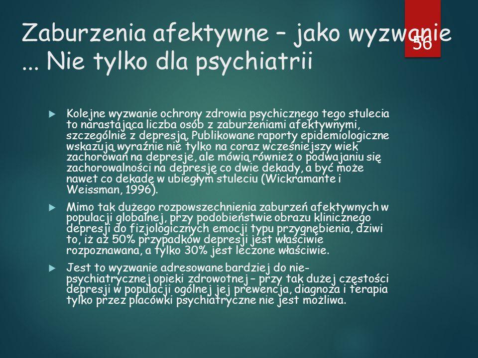 Zaburzenia afektywne – jako wyzwanie ... Nie tylko dla psychiatrii