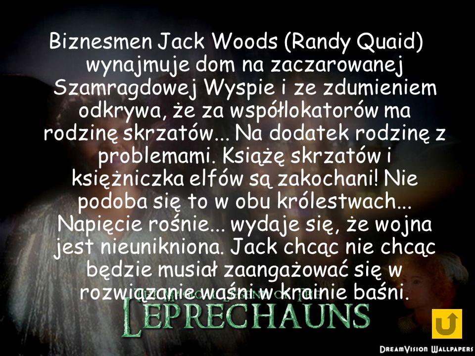 Biznesmen Jack Woods (Randy Quaid) wynajmuje dom na zaczarowanej Szamragdowej Wyspie i ze zdumieniem odkrywa, że za współlokatorów ma rodzinę skrzatów...