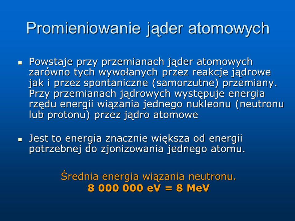 Promieniowanie jąder atomowych