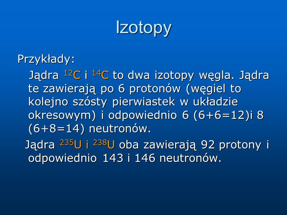 Izotopy Przykłady: