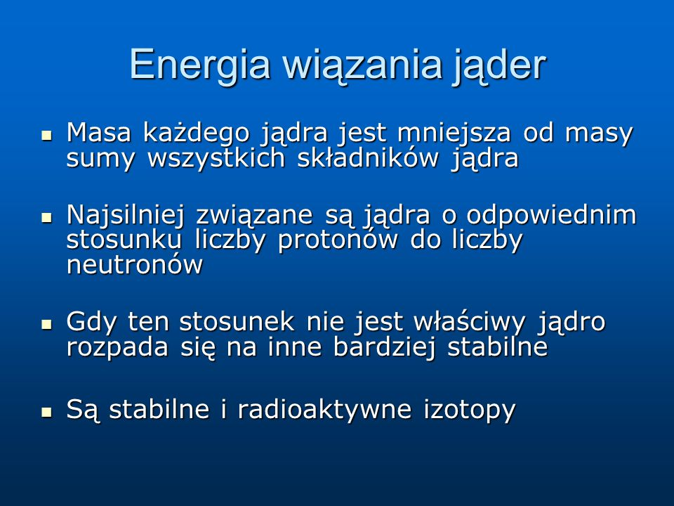 Energia wiązania jąder