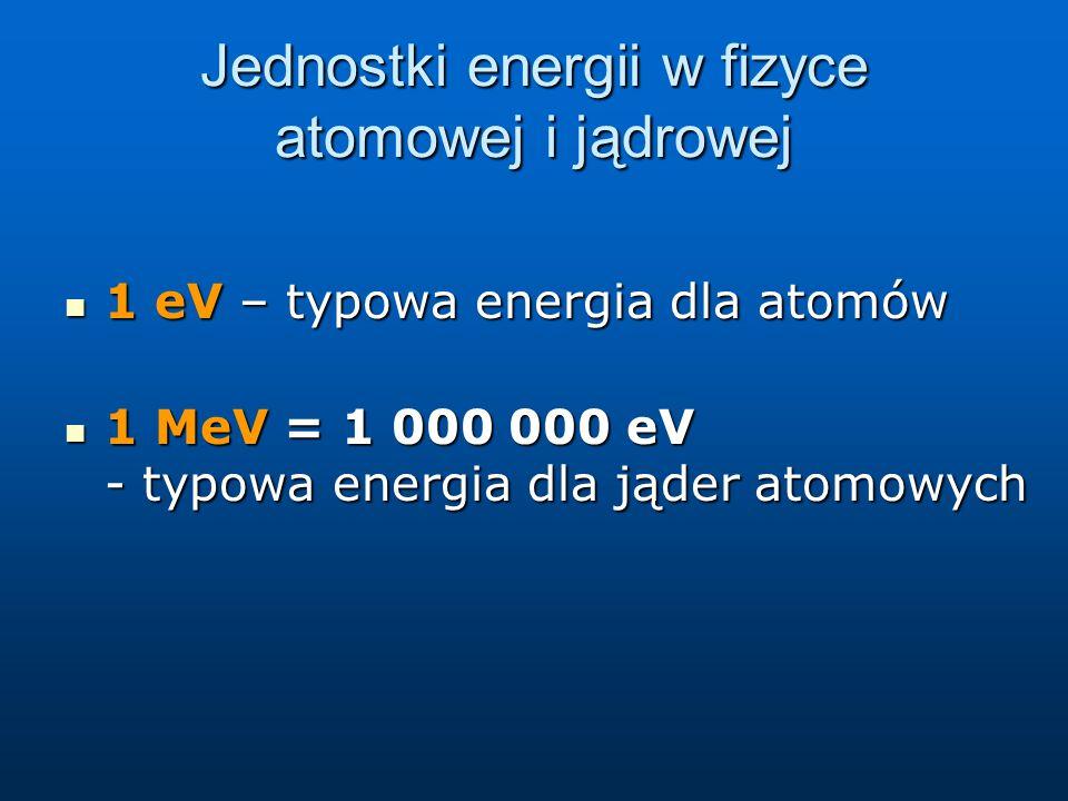 Jednostki energii w fizyce atomowej i jądrowej