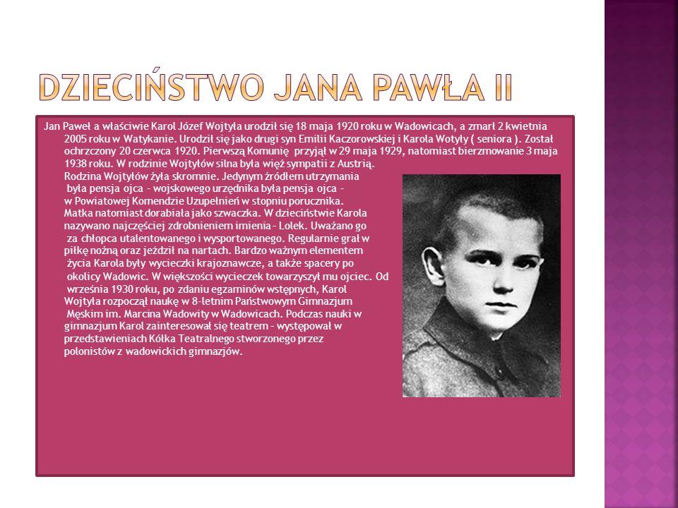 Dzieciństwo Jana Pawła II
