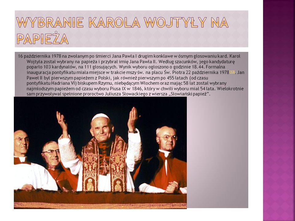 Wybranie karola wojtyły na papieża