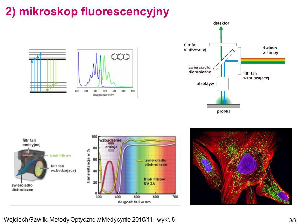 2) mikroskop fluorescencyjny