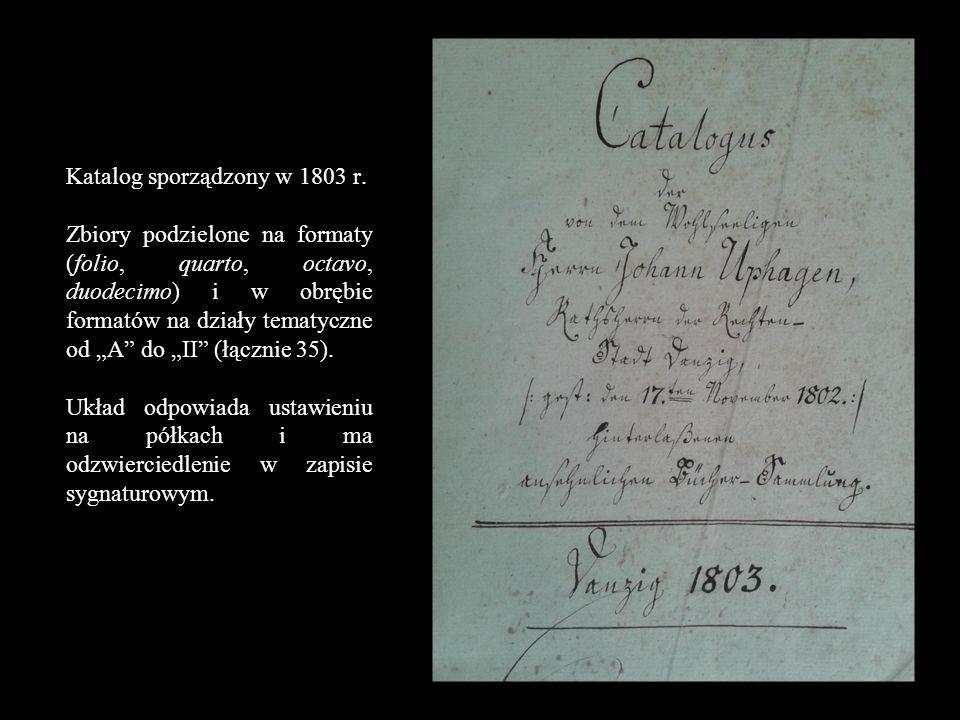 A – teologia B – prawo. C – encyklopedie, słowniki. D – literatura klasyczna. E – zbiory dzieł. F – biografie.