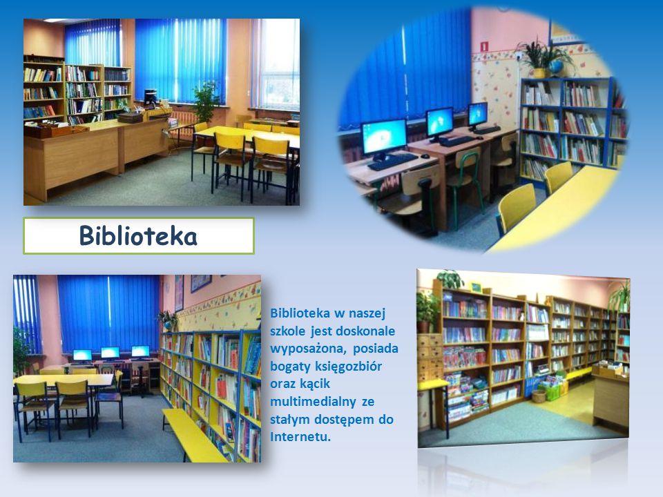 Biblioteka Biblioteka w naszej szkole jest doskonale wyposażona, posiada bogaty księgozbiór oraz kącik multimedialny ze stałym dostępem do Internetu.