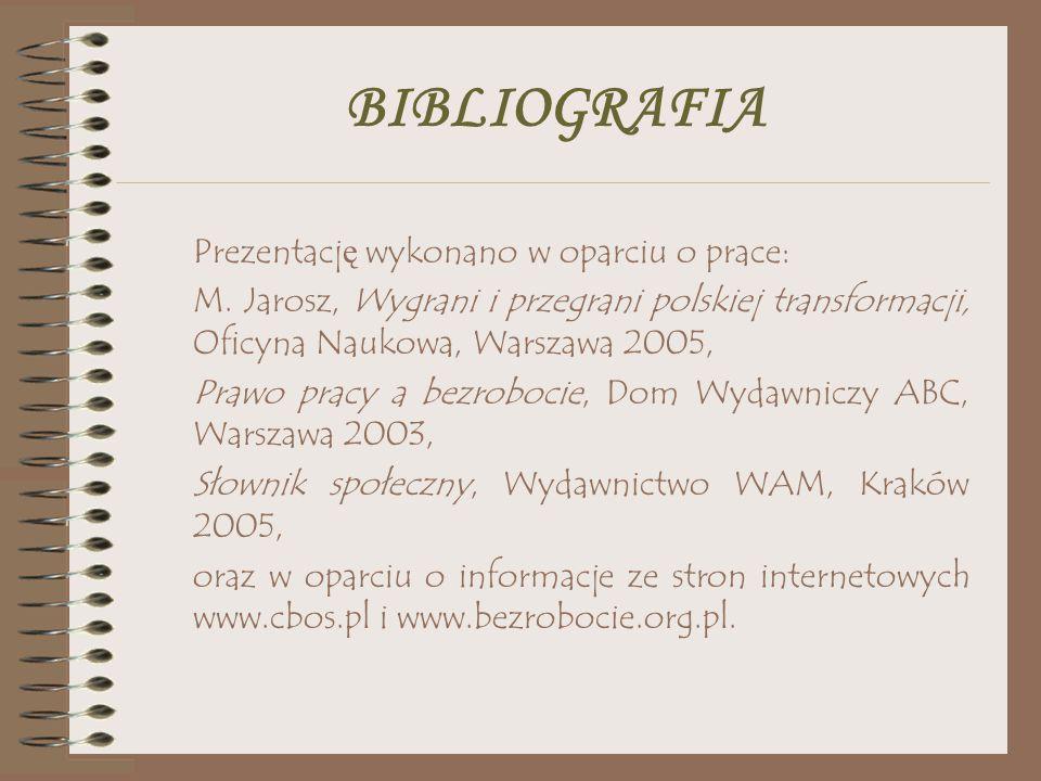 BIBLIOGRAFIA Prezentację wykonano w oparciu o prace: