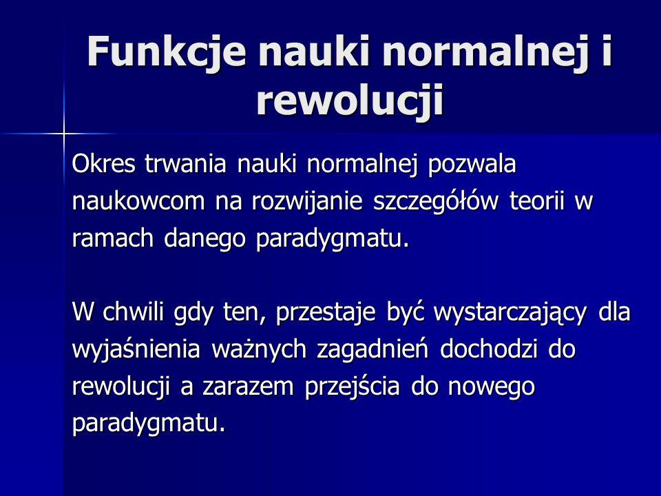 Funkcje nauki normalnej i rewolucji