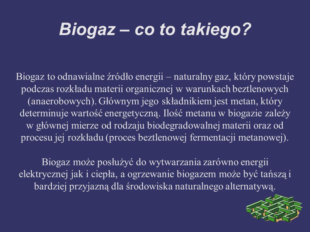 Biogaz – co to takiego
