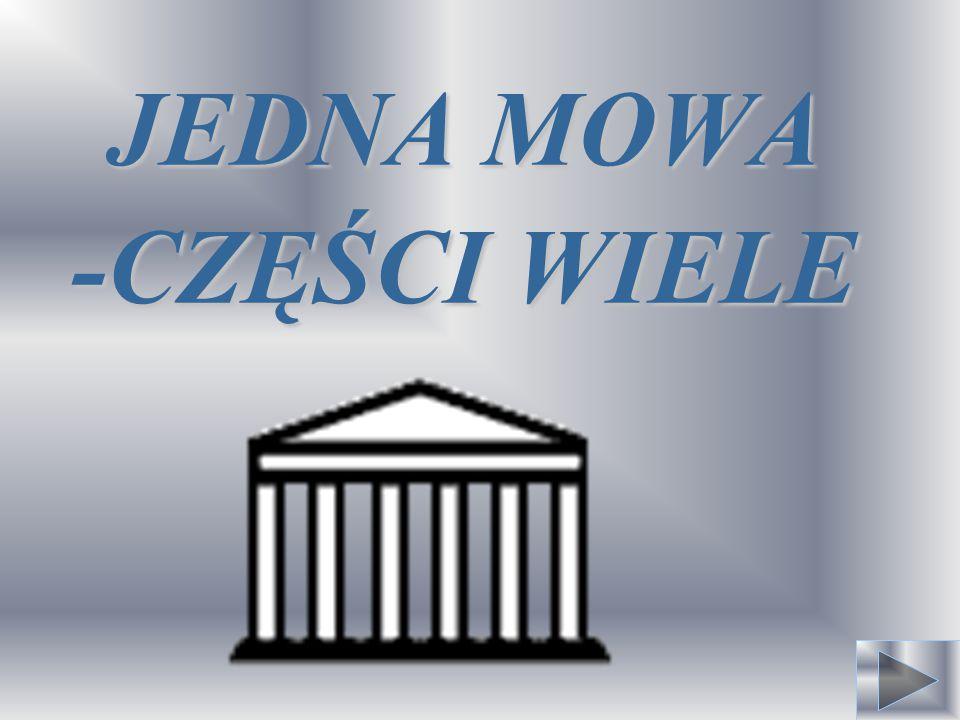 JEDNA MOWA -CZĘŚCI WIELE