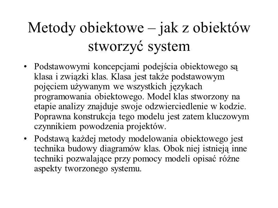 Metody obiektowe – jak z obiektów stworzyć system