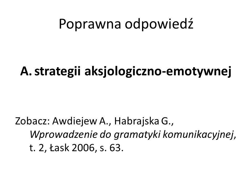strategii aksjologiczno-emotywnej