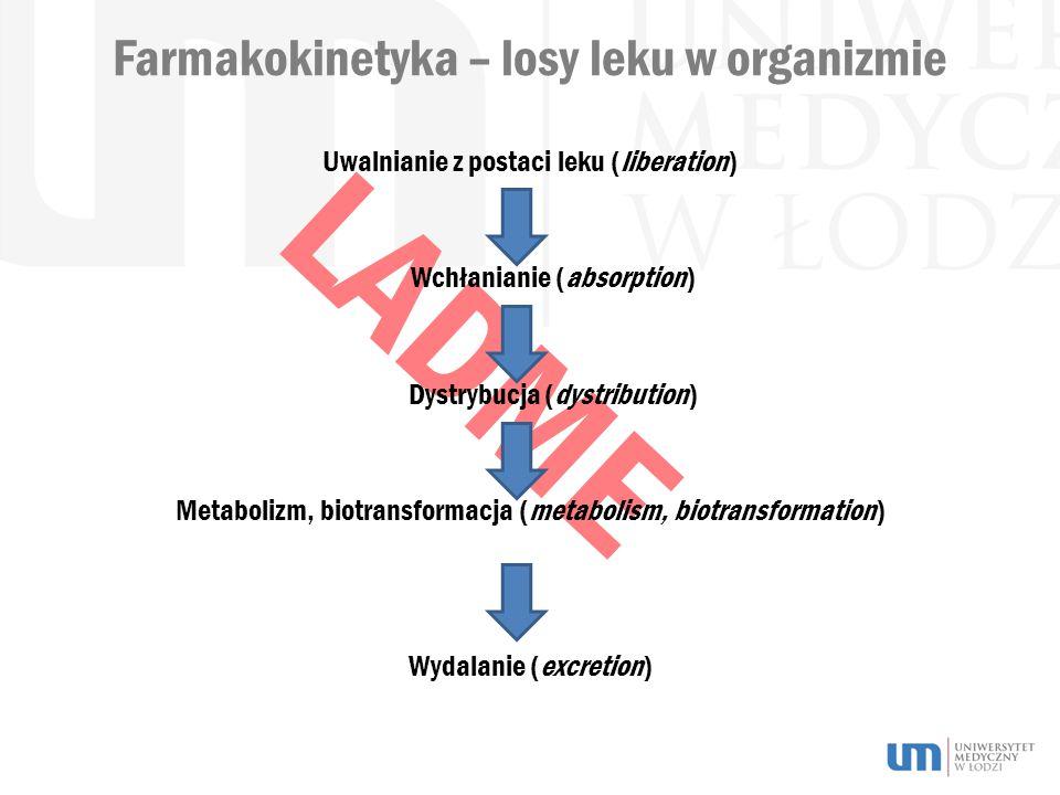 Farmakokinetyka – losy leku w organizmie