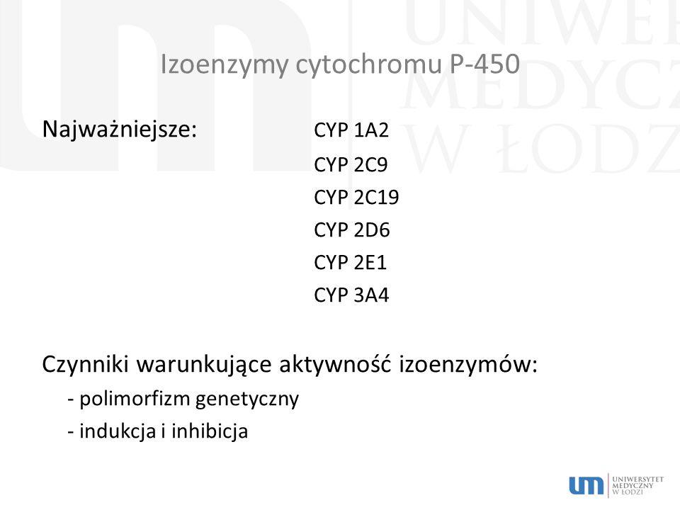 Izoenzymy cytochromu P-450