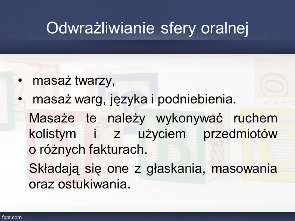 Odwrażliwianie sfery oralnej