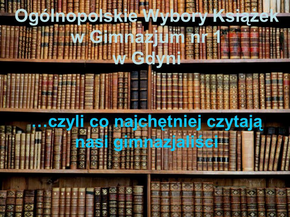 Ogólnopolskie Wybory Książek w Gimnazjum nr 1 w Gdyni …czyli co najchętniej czytają nasi gimnazjaliści