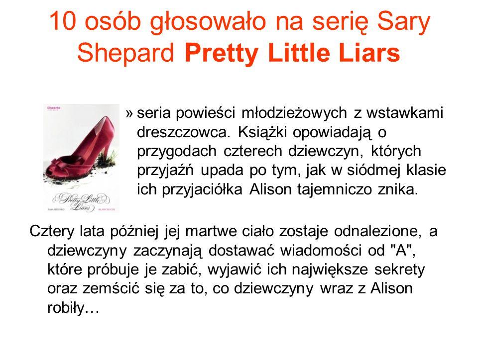 10 osób głosowało na serię Sary Shepard Pretty Little Liars