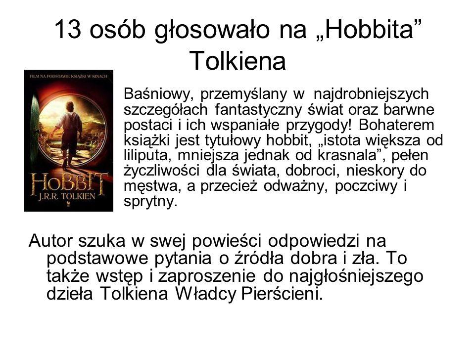 """13 osób głosowało na """"Hobbita Tolkiena"""