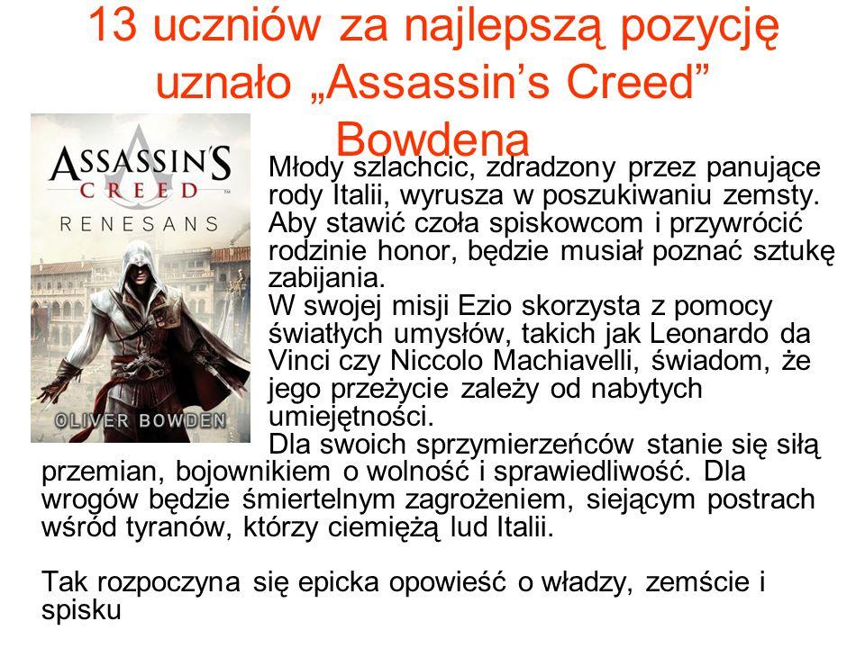 """13 uczniów za najlepszą pozycję uznało """"Assassin's Creed Bowdena"""