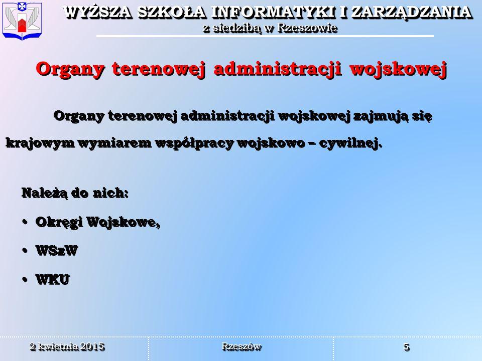 Organy terenowej administracji wojskowej