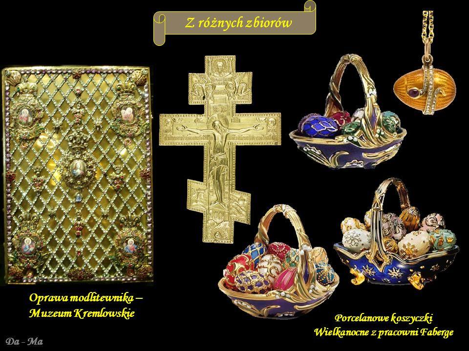 Porcelanowe koszyczki Wielkanocne z pracowni Faberge