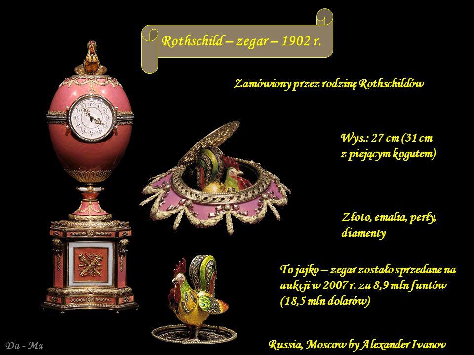 Rothschild – zegar – 1902 r. Zamówiony przez rodzinę Rothschildów