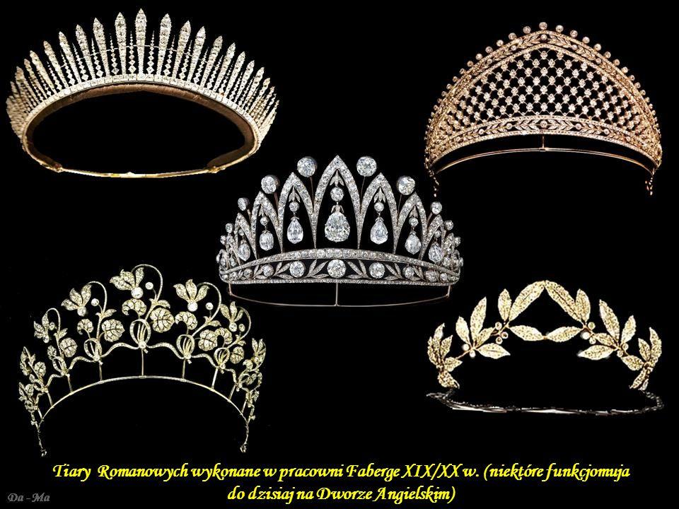 Russian Field Tiars Tiary Romanowych wykonane w pracowni Faberge XIX/XX w. (niektóre funkcjomuja do dzisiaj na Dworze Angielskim)