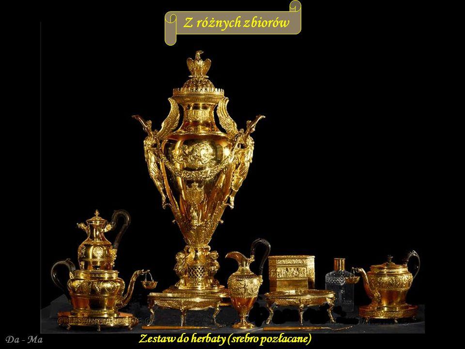 Z różnych zbiorów Da - Ma Zestaw do herbaty (srebro pozłacane)
