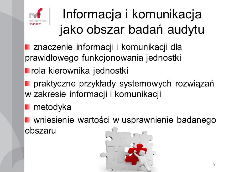 Informacja i komunikacja jako obszar badań audytu