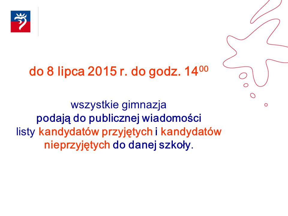 do 8 lipca 2015 r. do godz. 1400