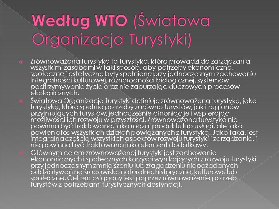 Według WTO (Światowa Organizacja Turystyki)