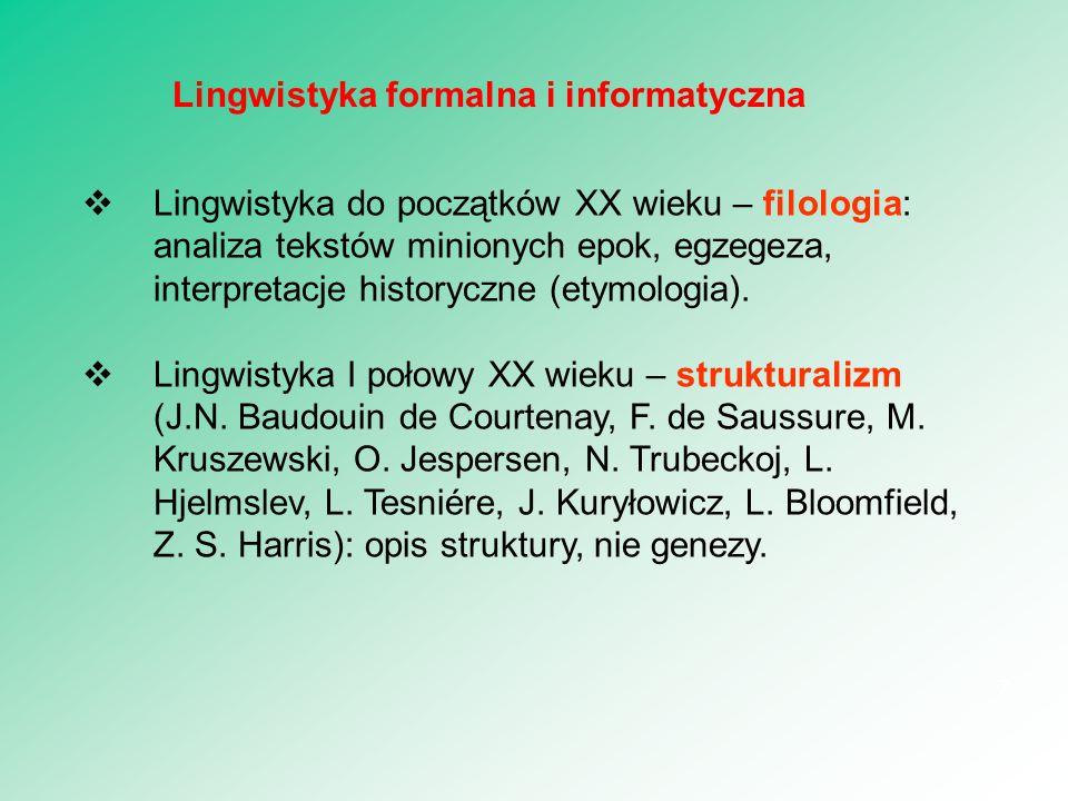 Lingwistyka formalna i informatyczna