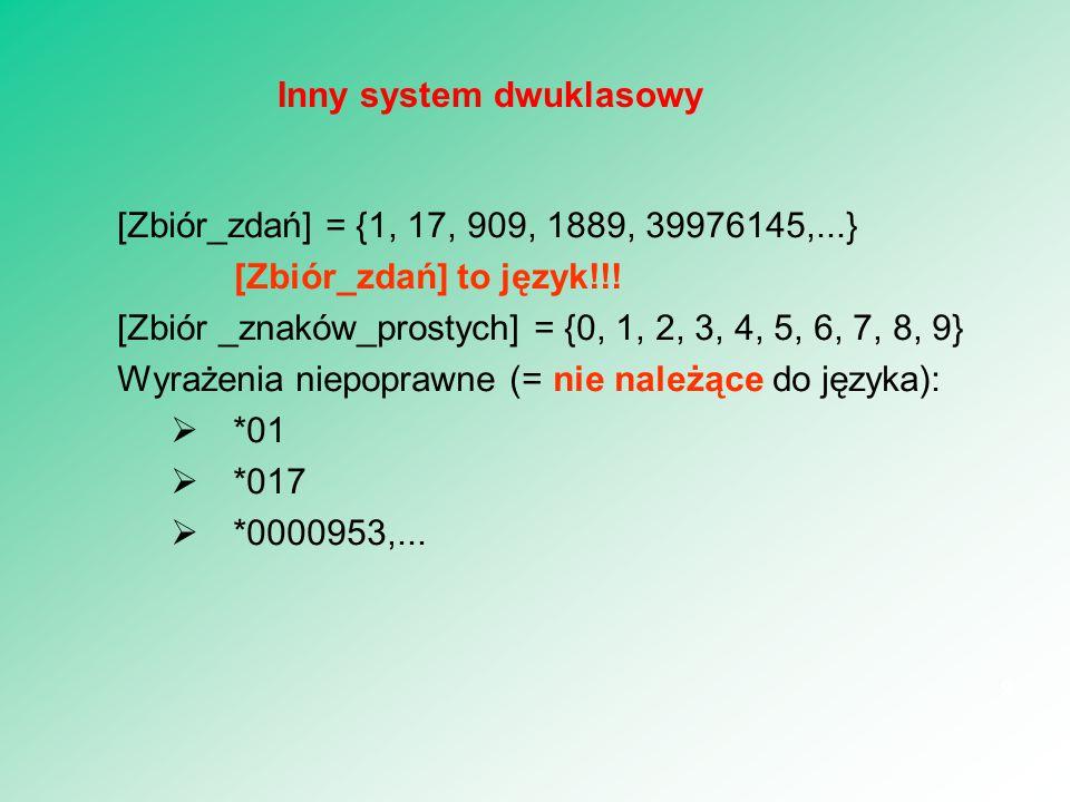 Inny system dwuklasowy