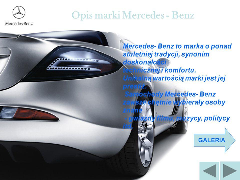 Opis marki Mercedes - Benz