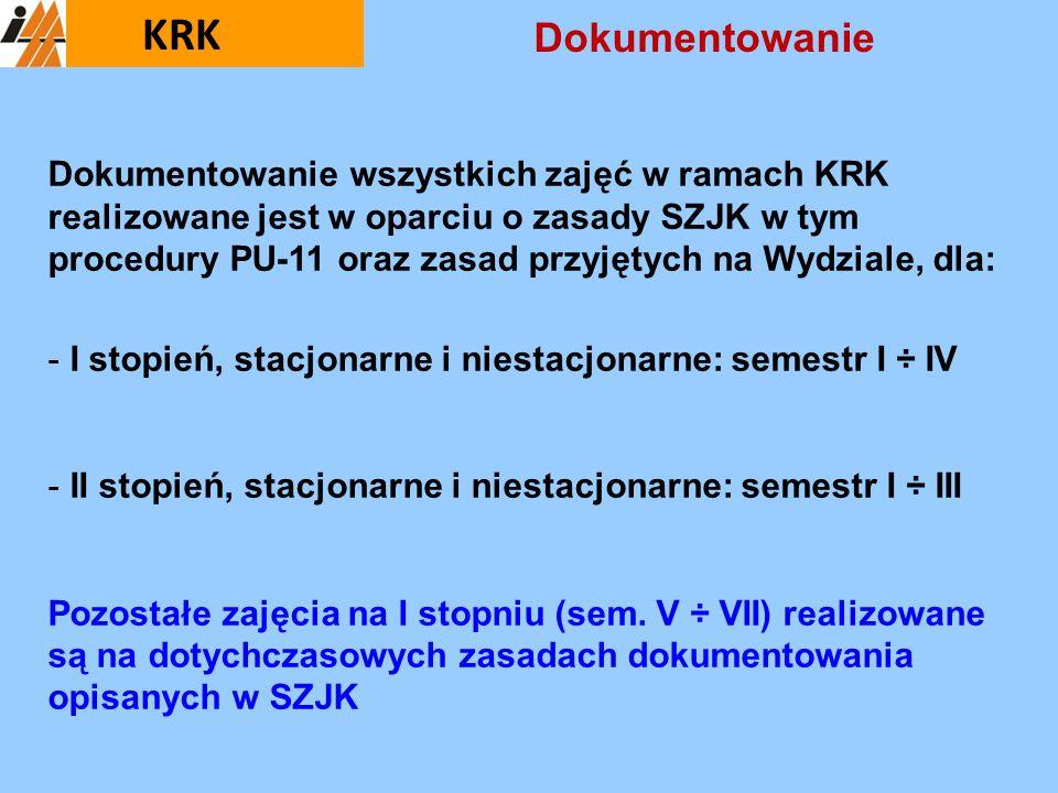 KRK Dokumentowanie.