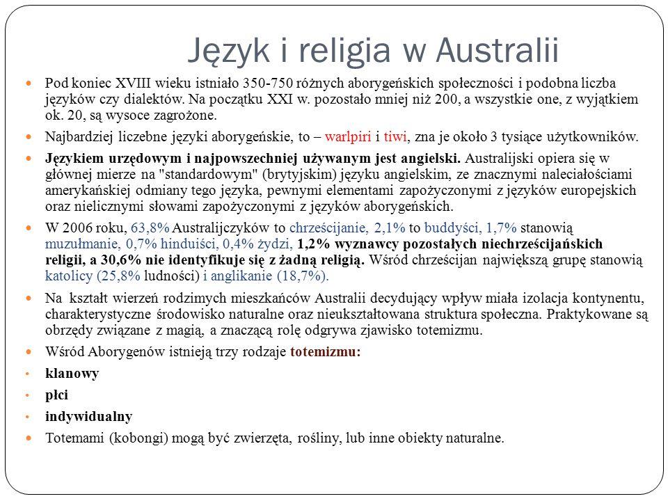 Język i religia w Australii