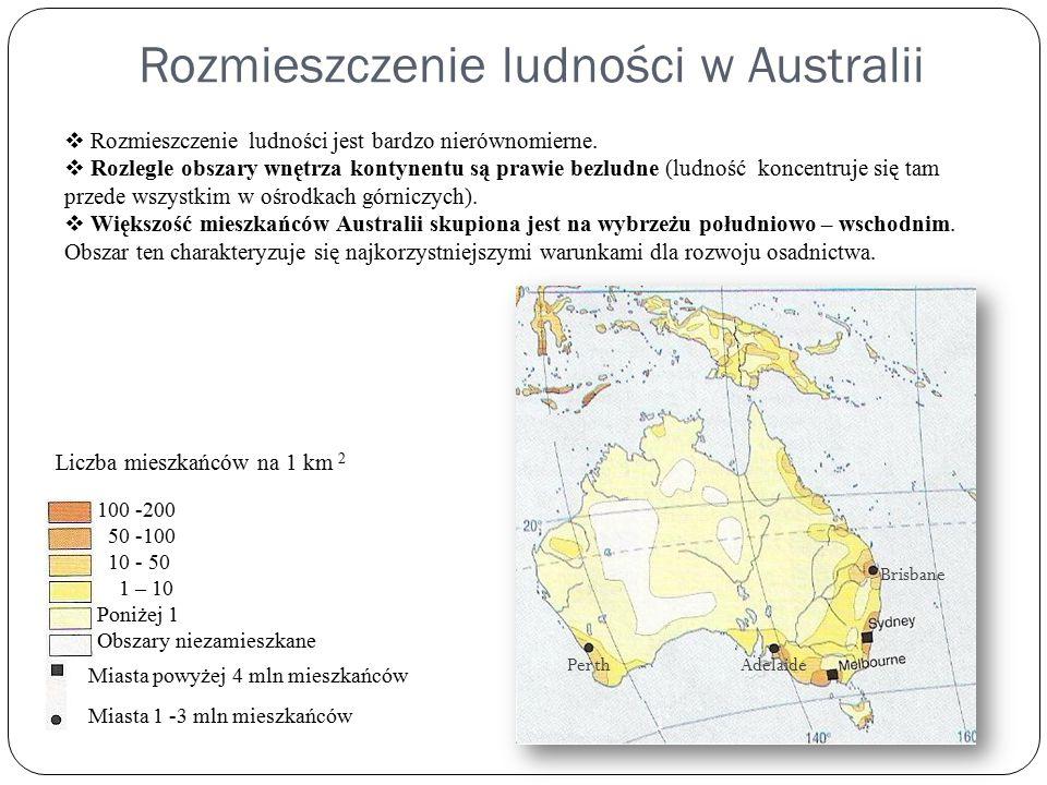 Rozmieszczenie ludności w Australii